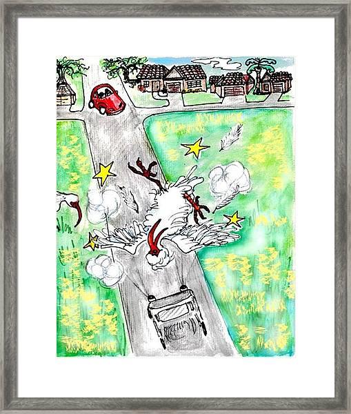 Ibis Sees Stars Framed Print by Carol Allen Anfinsen