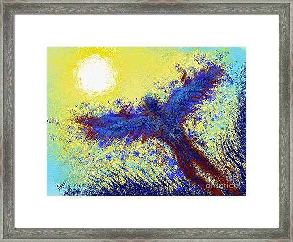 Framed Print featuring the digital art Icarus by Antonio Romero