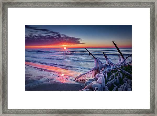 Ice Age Sunrise 1 Framed Print