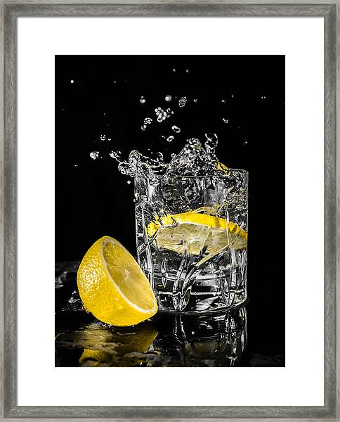 Framed Print featuring the photograph Ice And A Slice by Nick Bywater