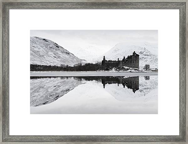 Ice And Snow At Loch Awe Framed Print