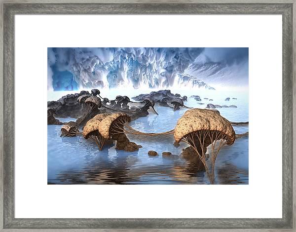 Ice Cavern Framed Print