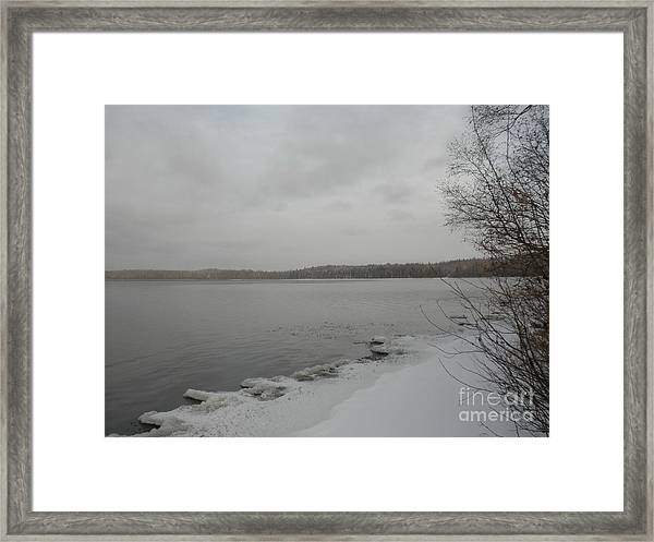 Ice Edge Framed Print