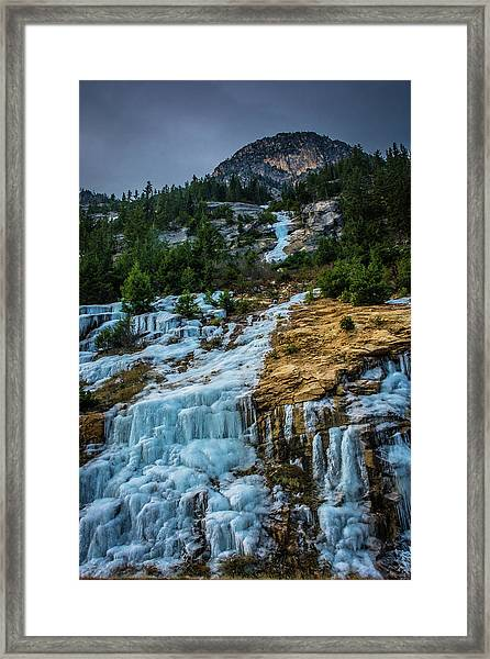 Ice Fall Framed Print