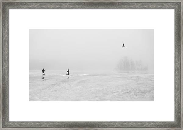Ice Fishermen Framed Print