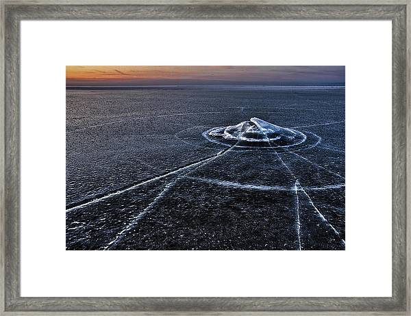 Ice Galaxy Framed Print