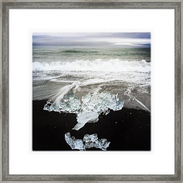 Ice In Iceland Framed Print