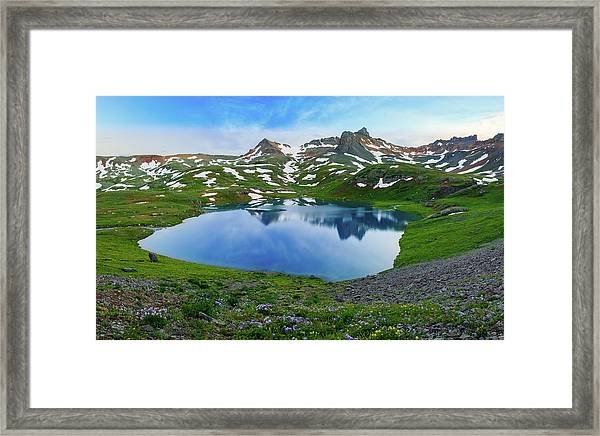 Ice Lake Panorama Framed Print by Johnny Adolphson