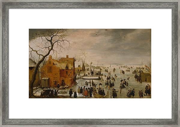 Ice Landscape Framed Print
