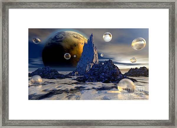 Ice Planet Framed Print by Sandra Bauser Digital Art