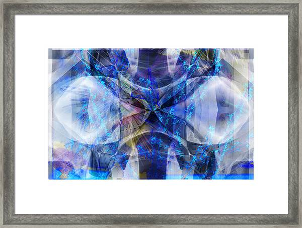 Ice Structure Framed Print