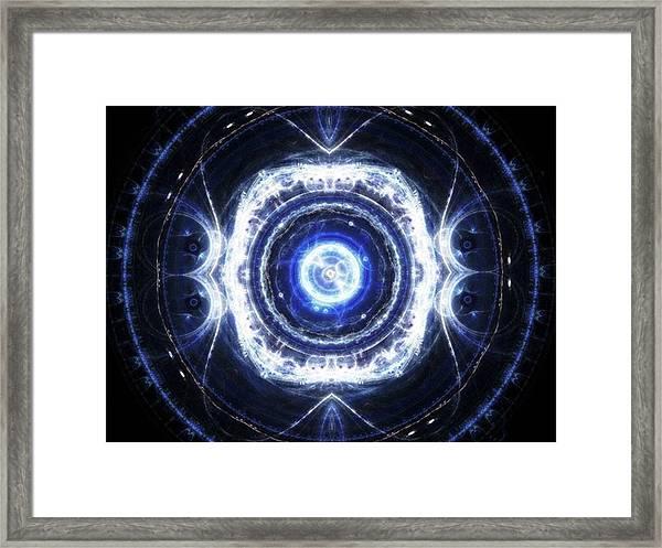 Ice Touch #art #abstract #digitalart Framed Print by Michal Dunaj