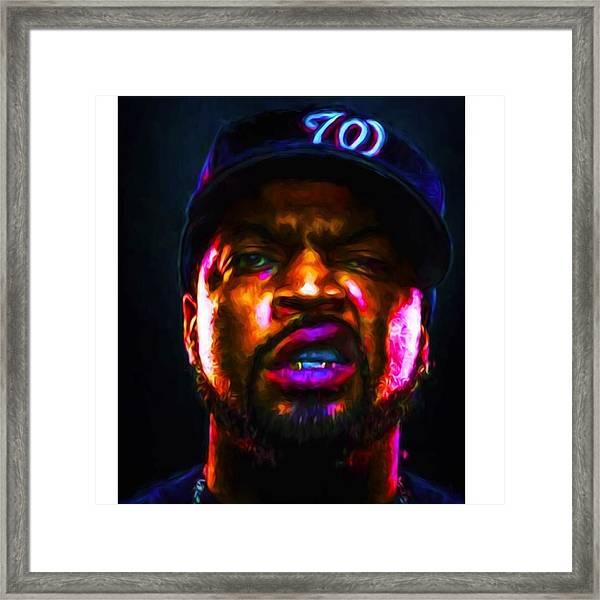@icecube #icecube #osheajackson Framed Print