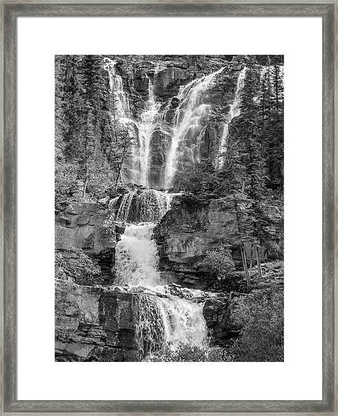 Icefields Waterfall Framed Print