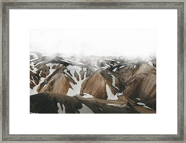 Framed Print featuring the photograph Iceland Mountains  by Fernando Puente