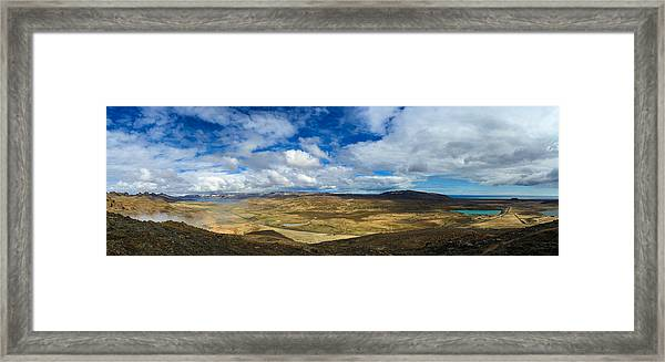 Iceland Panorama Image Geothermal Area Framed Print