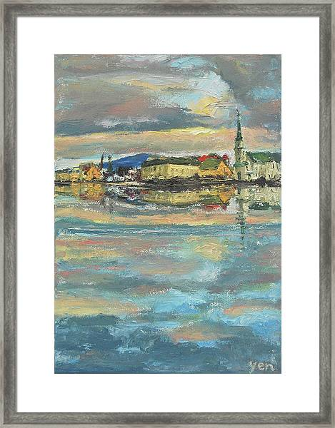 Framed Print featuring the painting Icelandic 9 - Serene by Yen