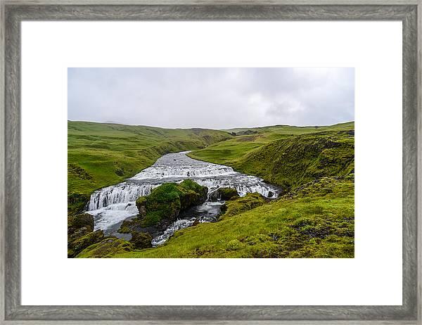 Icelandic Cascade Framed Print