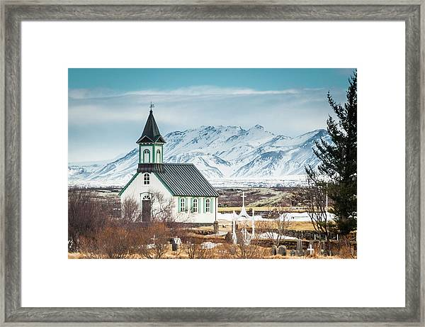 Icelandic Church, Thingvellir Framed Print