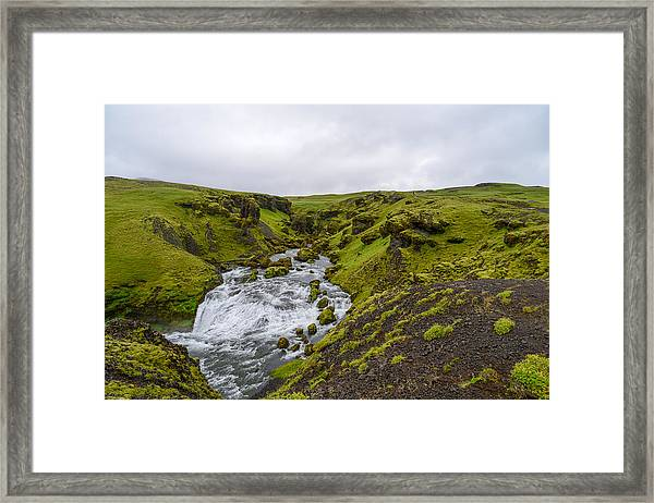 Icelandic Waterfall Framed Print