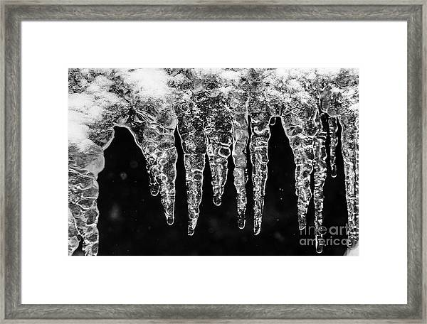 Icicles I Framed Print