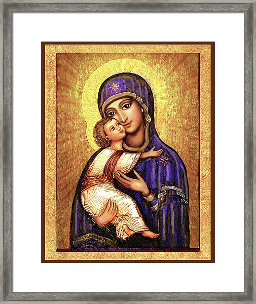 Icon Madonna Framed Print by Ananda Vdovic