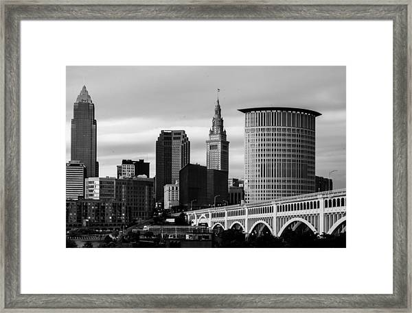 Iconic Cleveland Framed Print