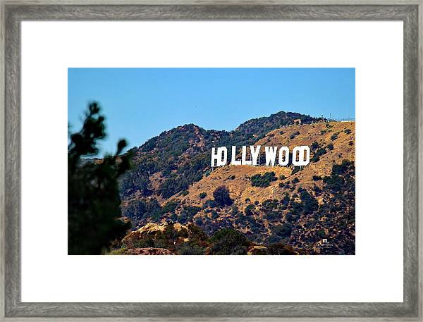 Iconic Hollywood Sign Framed Print
