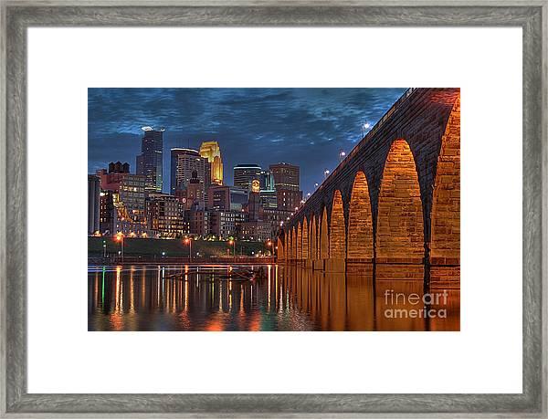 Iconic Minneapolis Stone Arch Bridge Framed Print