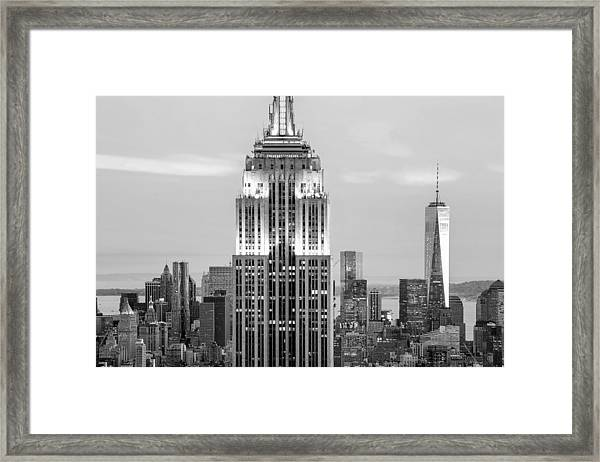 Iconic Skyscrapers Framed Print