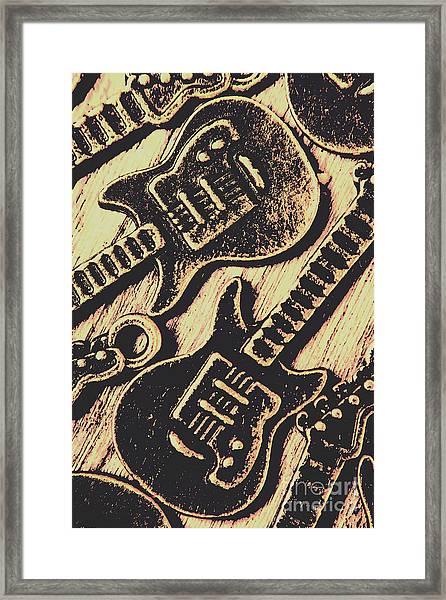 Icons Of Vintage Music Framed Print