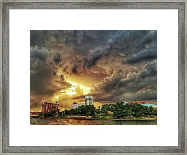 Ict Storm - From Smrt-phn L Framed Print