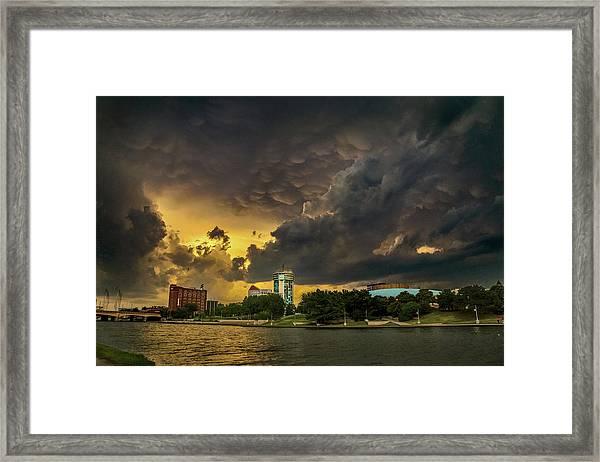 ict Storm - High Res Framed Print