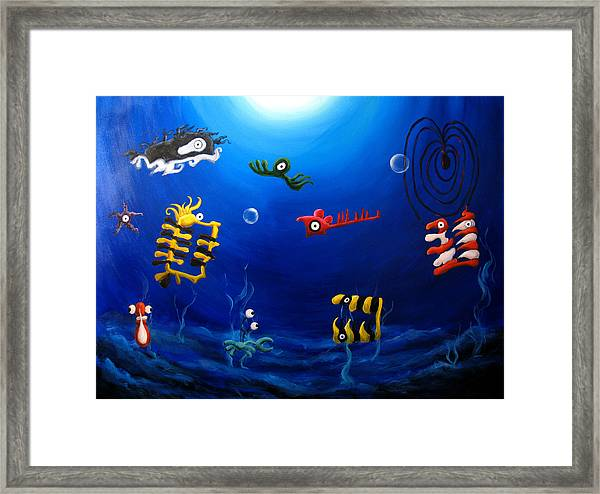 Icthylogy No.9 Framed Print by Michelle Barone