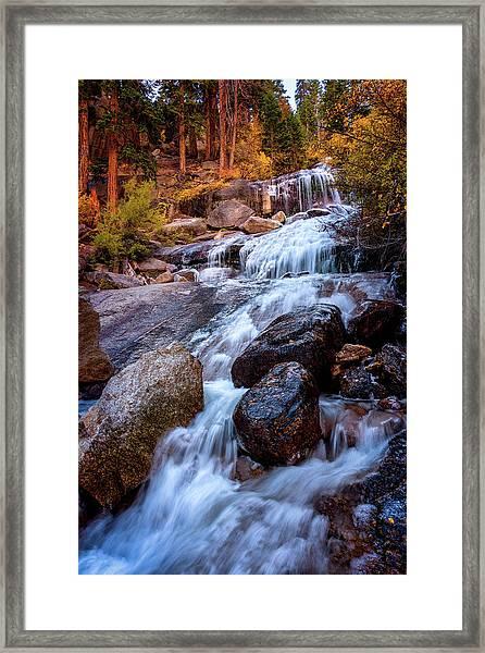 Icy Cascade Waterfalls Framed Print