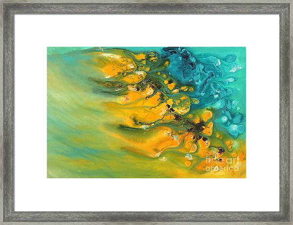 Icy Fire Framed Print