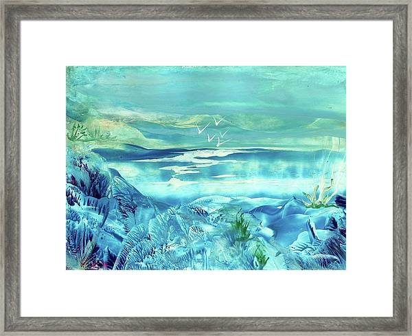 Icy Lake Framed Print by Angelina Whittaker Cook