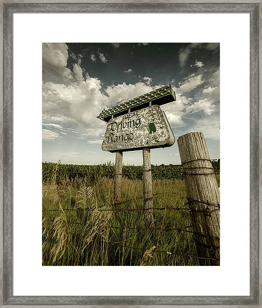 Ideal Driving Range Framed Print