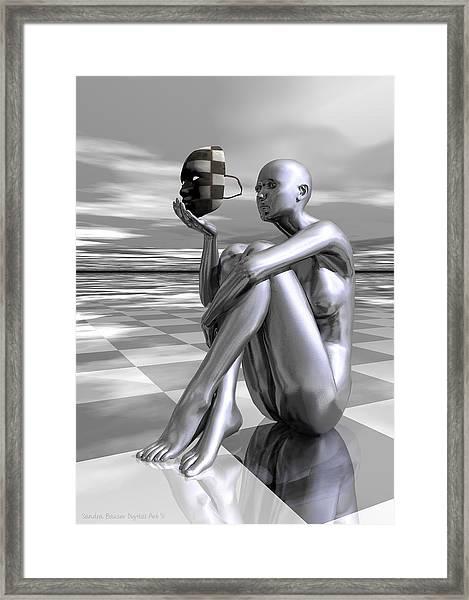 Framed Print featuring the digital art Identity by Sandra Bauser Digital Art