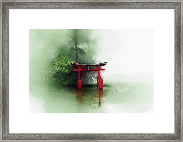 Framed Print featuring the digital art Idyll by Gina Harrison