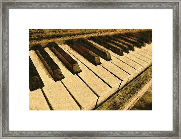 If Monet Played Framed Print