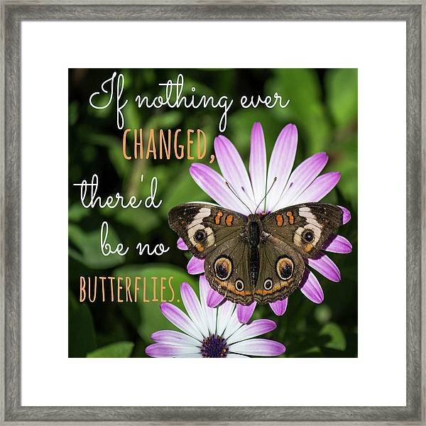 If Nothing Ever Changed Framed Print