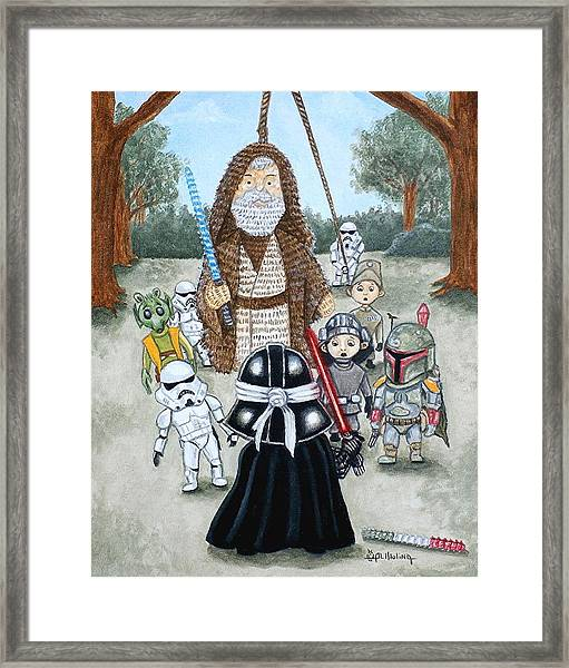 If You Strike Me Down I Shall Reward You With Candy Framed Print by Al  Molina