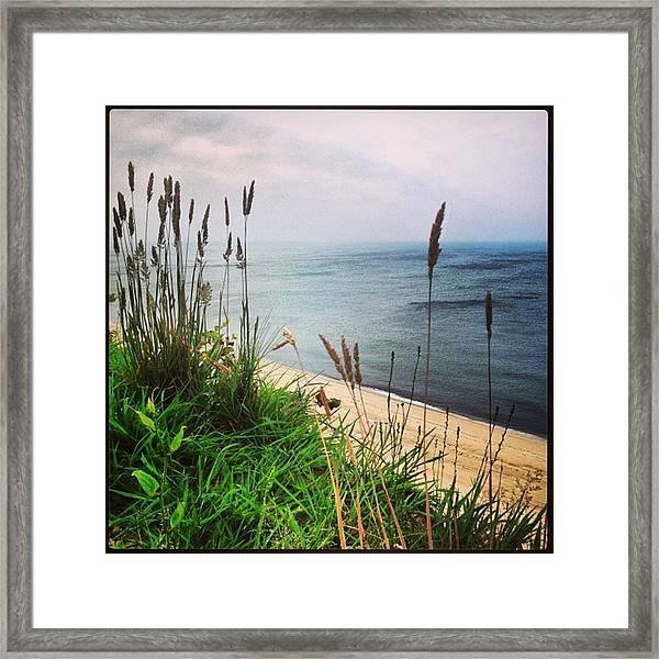#igaddict #iphonesia #beach #cliff Framed Print by Ben Berry
