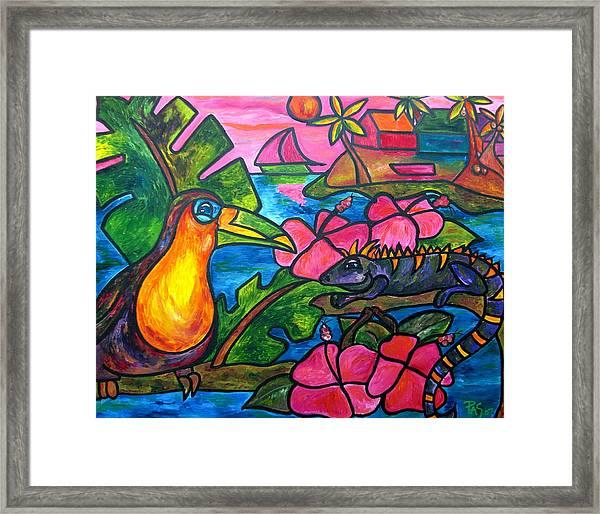 Iguana Eco Tour Framed Print