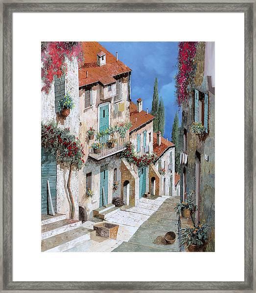 Il Balcone Fiorito Framed Print