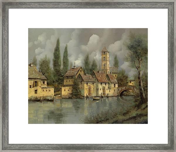 Il Borgo Sul Fiume Framed Print