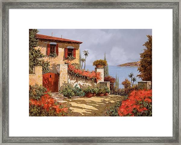 Il Giardino Rosso Framed Print