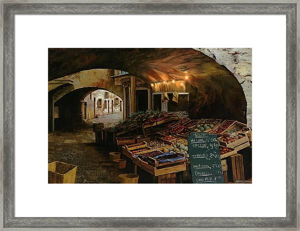 Il Mercato Francese Framed Print