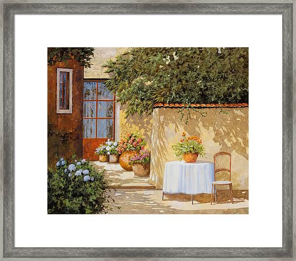 Il Muretto E Il Tavolo Framed Print